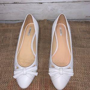 Geox Respira White Ballet Flats
